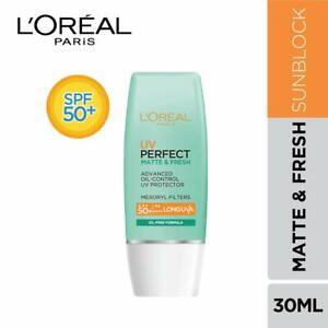 L'Oreal Paris Uv Perfect Matte & Fresh Long Uva Spf 50+/Pa++++, 30 g