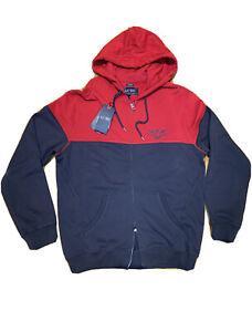 NWT Mens AJ Armani Jeans Colorblocked full Zip-Up  Hoodie Sweatshirt size M