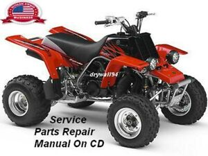 1992 - 2000 Yamaha Banshee YFZ350 OEM Service & Repair CD Manual