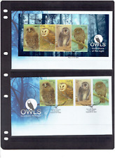 2016 Owls Guardian Of the Night 2 FDC Normal Stamps& Mini Sheet  on Cover