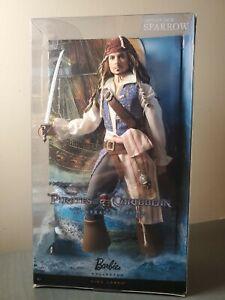 Captain Jack Sparrow Barbie Doll. Pirates of the Caribbean Stranger Tides. NEW!