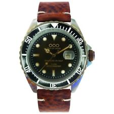 NEW OOO(OUT OF ORDER WATCH) SCORPIONE Dark Brown 44mm Damaged In Italy