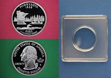 Silver 2005-S Minnesota Proof Quarter With 2x2 Snap DCameo Flat Rate Shipping