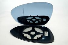 BMW M3 E90 E92 E93 2007+ WIDE ANGLE BLUE TINTED WING MIRROR GLASS  LEFT SIDE