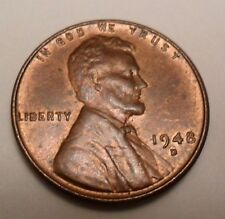 1948 D Lincoln Wheat Cent / Penny Coin   *FINE OR BETTER*  **FREE SHIPPING**