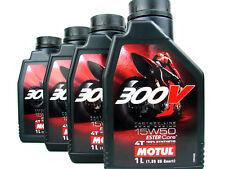 4x 1 L Motul 300V 15W50 4T RACING huile moteur 4Takt ROAD RACING huile de moto