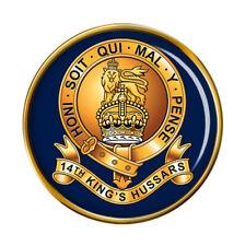 14th King's Hussars, British Army Pin Badge