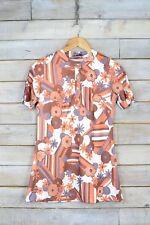 VINTAGE 70's COBRIZO Mezcla Camisa de flores (S)
