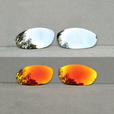 2 Pair Silver&Orange Red Replacement Lenses for-Oakley Monster Dog Polarized