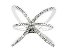 Genuine 0.6Ct Round Cut Diamond Right Hand Ring Wedding Band Ring 950 Platinum