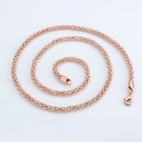 """Men's/Women's Necklace 18k Rose Gold Filled 24""""Link Fashion Jewelry"""