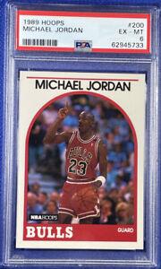 1989 Hoops Michael Jordan Chicago Bulls Basketball Card #200 Graded PSA 6!!!!!!