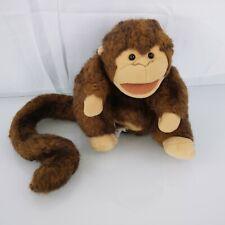 "Folkmanis Puppet Brown Monkey Plush Stuffed Animal 8"" Folktails Furry Folk"