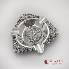 Ornate Repousse Yogya Ashtray UD 800 Deluxe Silver Indonesia