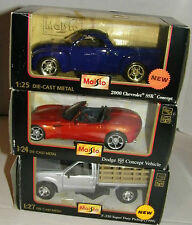 Lot 6 Maisto 1:25 1:24 1:27 2000 Chevy SSR F-350 Dodge Concept Ram Viper Ford NB