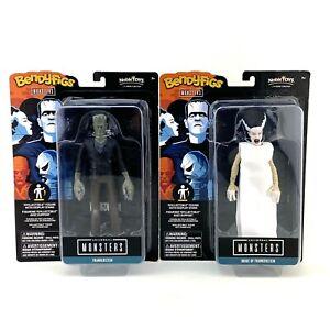 BendyFigs Universal Monsters Frankenstein & The Bride Of Frankenstein Noble Toys