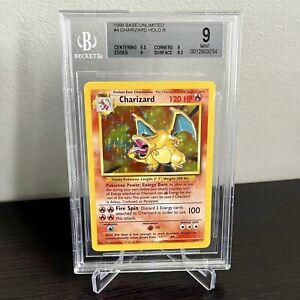 1999 Charizard Rare Holo Base Set WOTC Pokémon Card #4 BGS 9 MINT