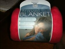 "Design Go Travel Blanket Work Business Warm Soft Car Movie Red 50""x 60"" Sports"