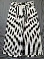 Banana Republic Women's Monochrome Striped Trousers Size US 8 UK 12 - Good Used