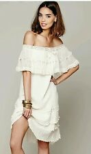 New Jen's Pirate Booty for Free People Ivory Athena off Shoulder Dress Small
