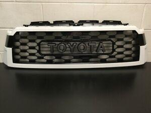 Genuine Toyota 2018 & Newer Sequoia TRD PRO 040 White Grill & Hood Lip Molding