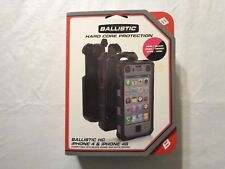 Ballistic Hard Core Hc iPhone 4 / 4s Black Pink Holster Clip Screen Protector
