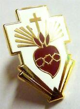 SACRED HEART Cross Jesus Catholic Pope Frances Vatican Hat Jacket Tie Lapel Pin
