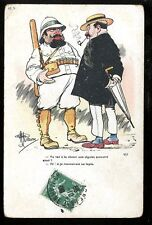 France comic Chasse aux Cigales 1908 PPC drawn by N Guillaume