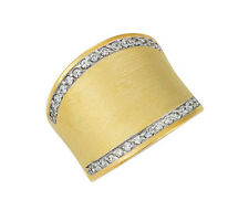 FASHION RING WITH CUBIC ZIRCONIA 14K YELLOW GOLD PLATED STERLING SILVER