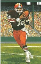 Ozzie Newsome Cleveland Browns unsigned Goal Line Art Card in Toploader