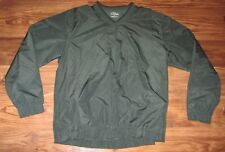 PGA Tour Golf Mens Pullover Windbreaker Jacket, Green, Polyester, Size L, EUC