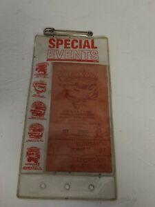 Vintage June 1987 Hot Rod Super National Canfield Fairgrounds Ticket Stub
