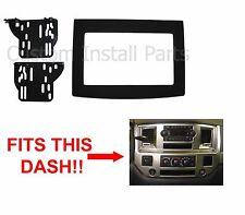 Dodge Ram 2006-2010 Black Double Din Dash Kit Truck Car Stereo Radio Install
