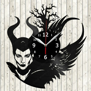 Maleficent Vinyl Record Wall Clock Decor Handmade 373
