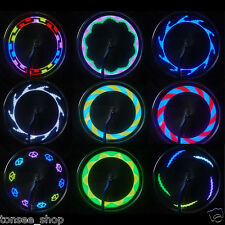 14 LED 30 Changes Motorcycle Cycling Bicycle Bike Wheel Signal Tire Spoke Light