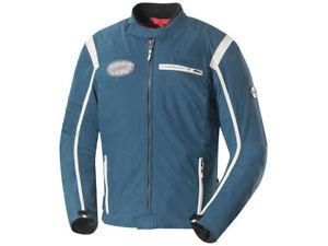 iXS Textile Jacket Ridley Blue-Beige Biker Jacket Made of Cotton & Polyamide