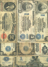 Collection of 8 diifferent large size currency types in circulated condition