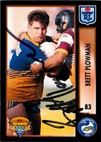 ✺Signed✺ 1994 PARRAMATTA EELS NRL Card BRETT PLOWMAN