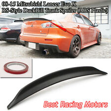 RS Style Rear Trunk Spoiler Wing (ABS) Fits 08-16 Mitsubishi Lancer EVO 10 X