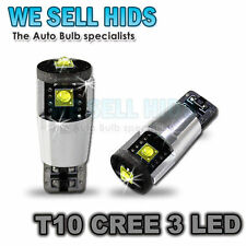 3 LED T10 CREE CHIPS CANBUS HIGH POWERED BULBS INTERIOR SIDELIGHT NUMBER PLATE