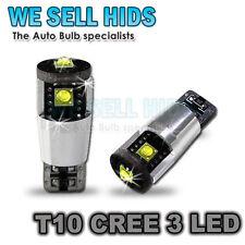 3 LED t10 CREE CHIP CANBUS ALTO ALIMENTATO LAMPADINE INTERNA LUCE LATERALE TARGA