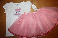 "NWT Gymboree Birthday Shop 4T Set Mouse ""4"" Shirt Top Pink Tutu Skirt"