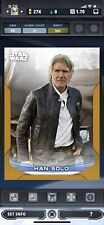 Topps Star Wars Card Trader 21 Chrome W2 Perspective Gold Han Solo Digital