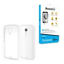 Custodia Cover Trasparente + Vetro Temperato Per Motorola Moto G 2014