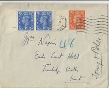 Stamps England KGV1 with cylinder number United Services Club cover Australia