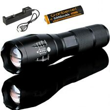 LED Flashlight Torch T6 Tactical Military 50000lm Zoomable 5 Mode for 18650 CREE