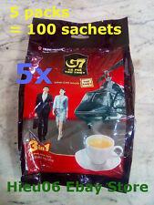 5 packs of 320 gram Trung Nguyen Vietnamese coffee ca phe G7 100 sachets of 16g