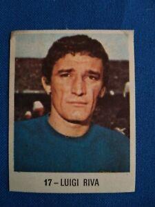 collectible card of the great Italian footballer Luigi Riva