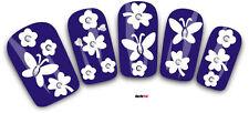 Nail Art de transferencia Pegatinas 3D Flores Mariposas calcomanías Pedrería (3D003)