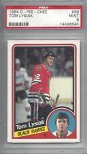 1984 OPC hockey card #39 Tom Lysiak, Chicago Blackhawks graded PSA 9 MINT